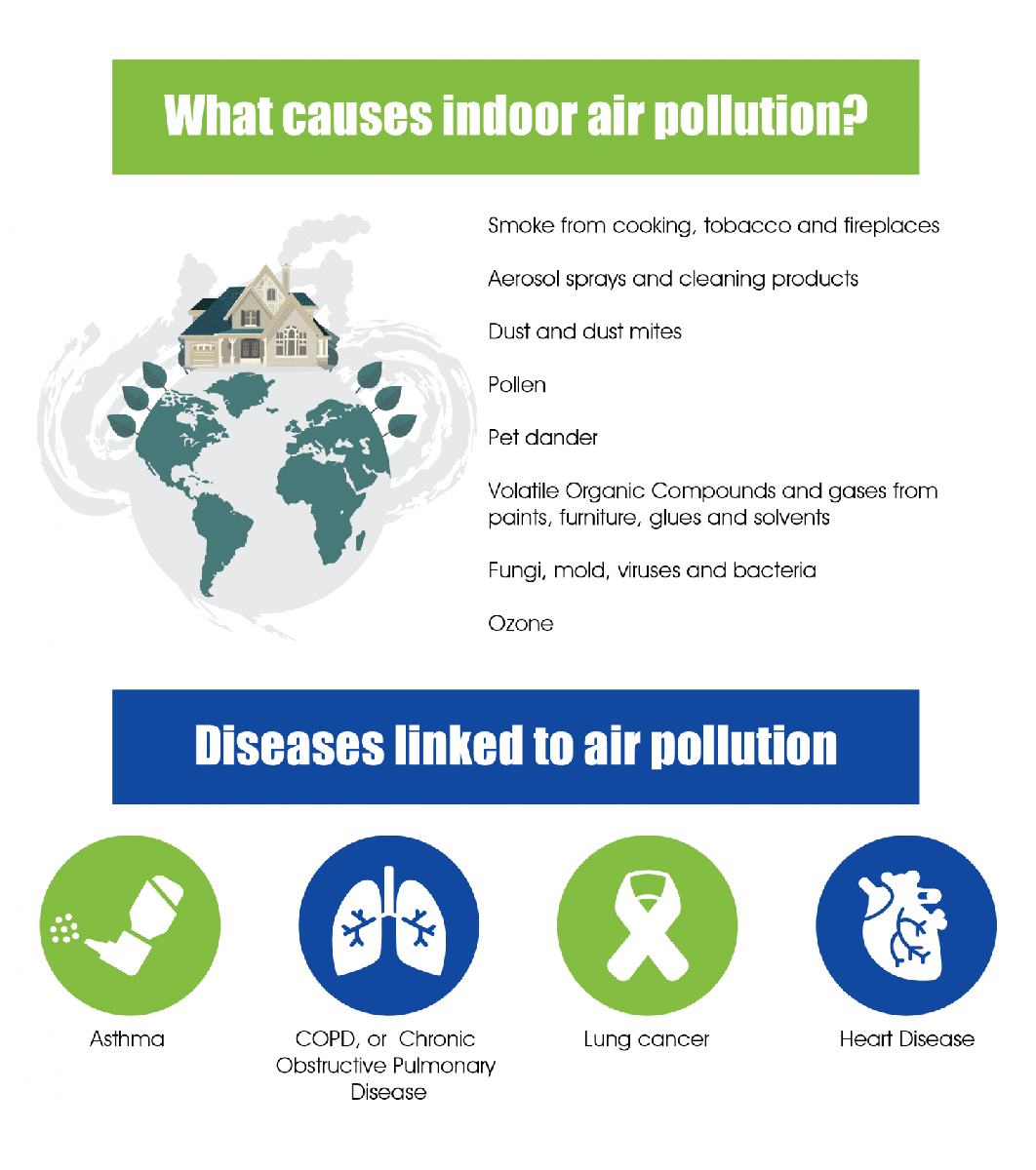 What Causes Indoor Air Pollution Infographics