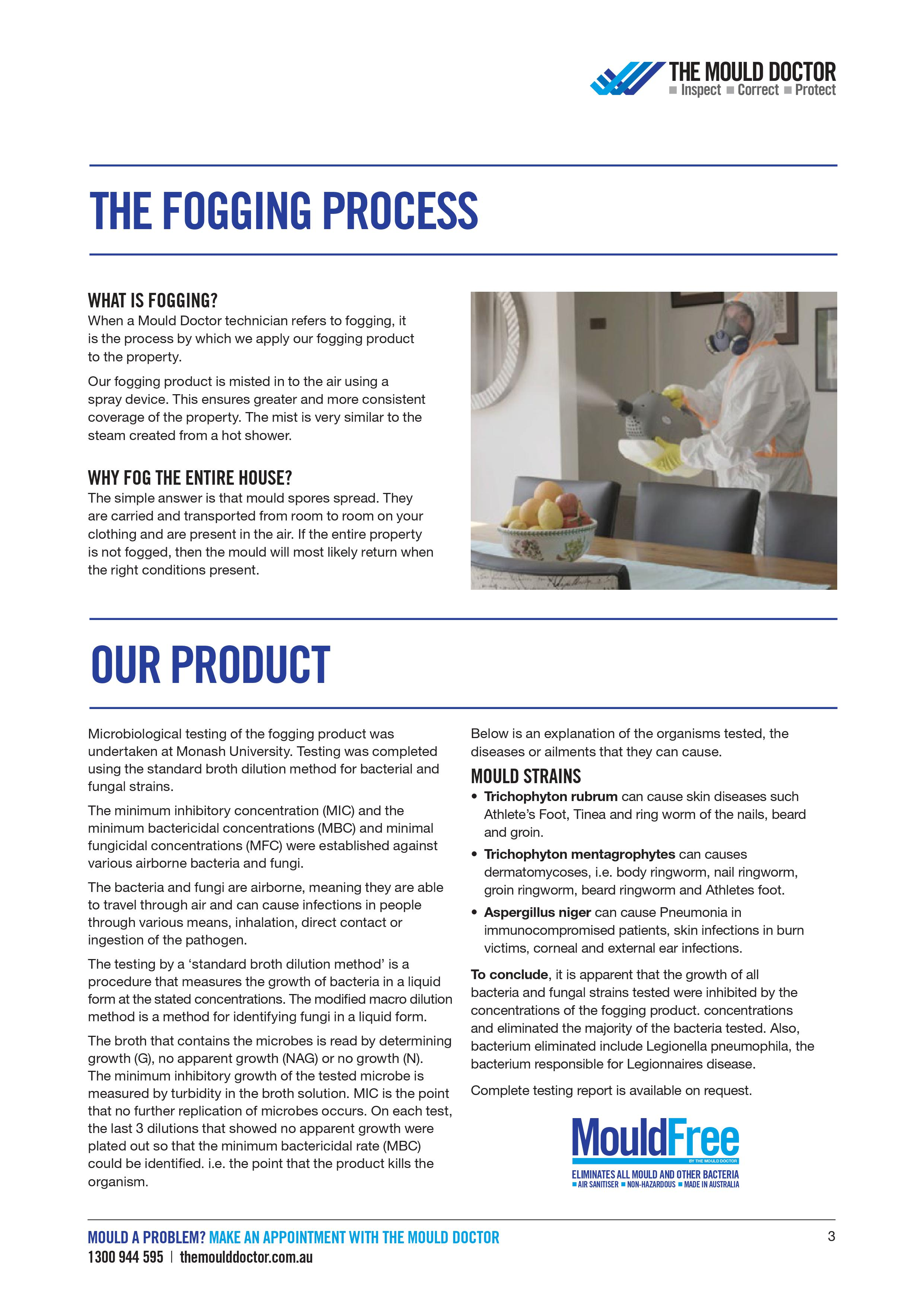 Decontamination Fogging process